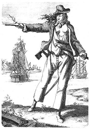 Piratin Anne Bonny (1679-1720) in Männerkleidung © Wikimedia.Commons (allgemeinfrei)