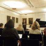 Vortrag in Braunschweig über das Archiv Frau und Musik 2016 bei Grotrian-Steinweg © Elisabeth Brendel