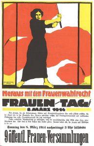 """""""Heraus mit dem Frauenwahlrecht"""" - Frauentag 8. März 1914 © Wikimedia.Commons (allgemeinfrei)"""