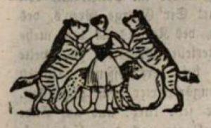 Menagerien. Dompteuse 1850 © gemeinfrei
