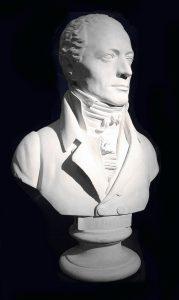 Johann Andreas Streicher. Büste von Franz Klein © Wikimedia.Commons (gemeinfrei)