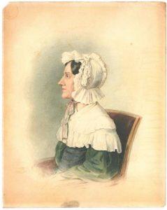 Nannette Streicher. Tuschezeichnung von Ludwig Krones 1836 © Wikimedia.Commons (gemeinfrei)