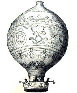 Gebrüder Montgolfier in ihrer Montgolfière © Wikimedia.Commons (gemeinfrei)