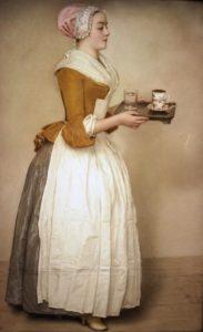 Das Schokoladenmädchen (Dienstmädchen). Jean-Étienne Liotard, um 1754 © Wikimedia.Commons (gemeinfrei)