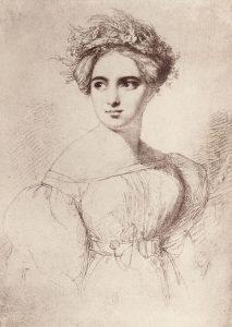 Fanny Hensel 1829. Zeichnung von Wilhelm Hensel © Wikimedia.Commons (gemeinfrei)
