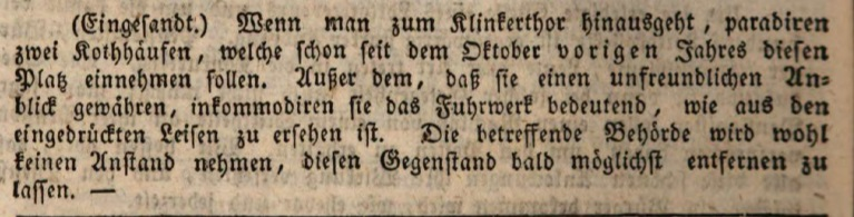 Augsburger Tagblatt, 1831. Screenshot © Susanne Wosnitzka