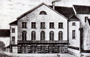 Rückseite Stadttheater Augsburg vom Lauterlech aus © entnommen der Augsburger Skandalzeitung (dort ohne Copyright-Angaben)