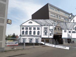 Hintereingang Stadttheater Augsburg Lauterlech© Susanne Wosnitzka