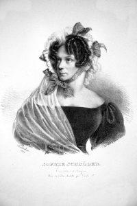 Sophie Schröder, Lithographie von Joseph Kriehuber 1828 © Wikimedia.Commons gemeinfrei