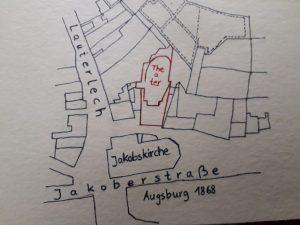 Stadtplan 1868. Zeichnung nach Original © Susanne Wosnitzka