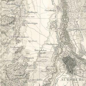 Augsburg und Umgebung, vor 1830 © Wikimedia.Commons (gemeinfrei)
