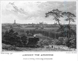 Augsburg um 1835. Stahlstich von F. Höfer © Wikimedia.Commons (gemeinfrei)