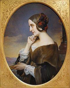 Marie d'Agoult, Gemälde von Henri Lehmann © wikimedia.commons (gemeinfrei)