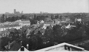 München um 1880, Blick vom Nockherberg © wikimedia.commons (gemeinfrei)