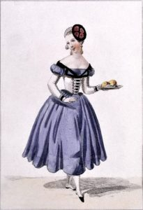 Léocadie Doze als Fanchette in Le mariage de Figaro von Beaumarchais 1840 © wikimedia.commons (gemeinfrei)