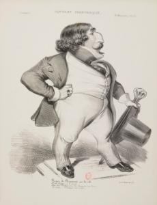Roger de Beauvoir. Karikatur von Benjamin Roubaud © wikimedia.commons (gemeinfrei)