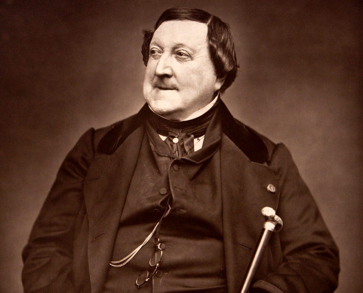 Gioachino Rossini, Fotografie von Étienne Carjat 1865 © wikimedia.commons (gemeinfrei)
