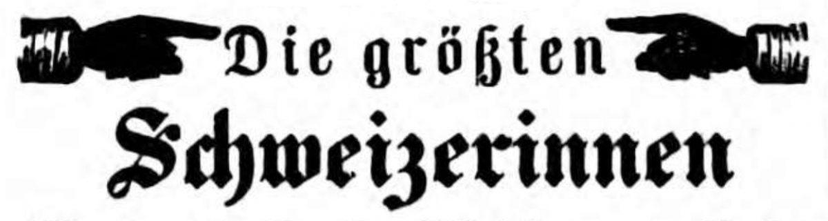 Die größten Schweizerinnen 1858