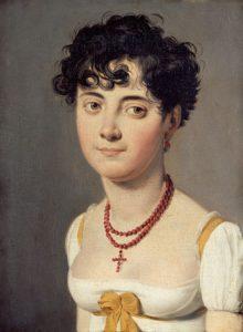 """Madame Fouler, comtesse de Relingue mit Frisur """"à la victime"""" 1810. Gemälde von Louis Léopold Boilly © wikimedia.commons (gemeinfrei)"""