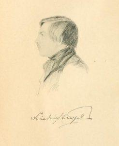 Friedrich Engels 1840, Zeichnung von Georg Wilhelm Feistkorn © wikimedia.commons (gemeinfrei)