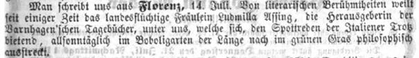 Augsburger Tagblatt No. 200 1862 © Screenshot Susanne Wosnitzka