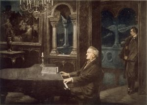 Wagner und der König. Gemälde von Kurt von Rozynski, 1890 © wikimedia.commons (gemeinfrei)