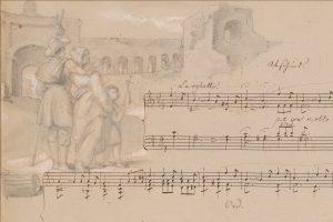 """Wilhelm und Fanny Hensel """"Abschied"""" (aus Rom) 1840"""